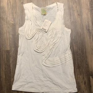 NWT, never worn Anthropologie detailed white tank